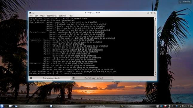Debian tidak bisa instal aplikasi
